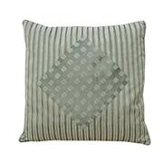 Melrose Home Stripes & Diamonds Pillow Shell; Cyledon / Sage