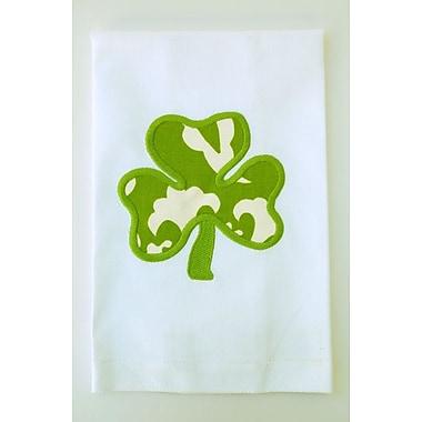 Samantha Grace Designs Egyptian Quality Cotton Huck Holiday Applique Shamrock Hand Towel