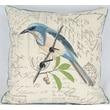 Manor Luxe Avian Blue Bird Cotton Pillow; Feather