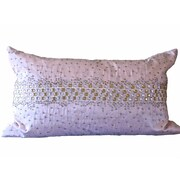 Debage Inc. Bling Crystal Diamond Throw Pillow; Light Pink