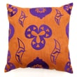 Sabira Shanghai Polyester Pillow; Tan / Purple