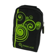 rooCASE Fashion Nylon Padded Carrying Case; Vine Black