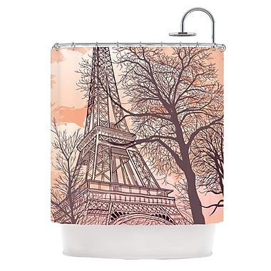 KESS InHouse Eiffel Tower Shower Curtain