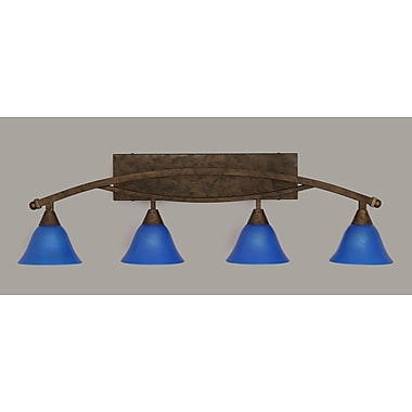 Toltec Lighting Bow 4 Light Vanity Light; Bronze