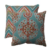 Pillow Perfect Mirage and Chevron Throw Pillow (Set of 2); 16.5'' W x 16.5'' D