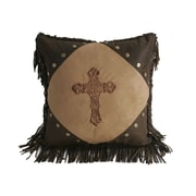 HiEnd Accents Crosses Diamond Suede Throw Pillow