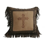 HiEnd Accents Crosses Throw Pillow