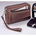 Winn International Men's Bag II Wristlet; Brown