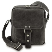 David King Distressed Man Shoulder Bag; Gray