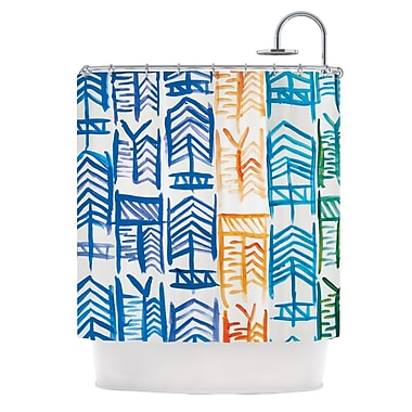 KESS InHouse Quiver II Shower Curtain