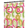 Watershed Prints Polyester Groovy Circles Shower Curtain; Tangelo