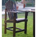 Shine Company Inc. Westport Counter Adirondack Chair; Burnt Brown
