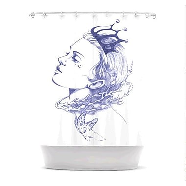 KESS InHouse Queen of The Sea Shower Curtain; Purple