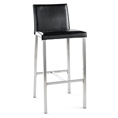 TFG Dylan 30'' Bar Stool with Cushion; Black