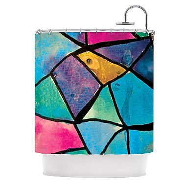 KESS InHouse Stain Glass 2 Shower Curtain