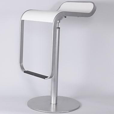 Control Brand ''Elle'' Adjustable Barstool; White