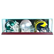 Perfect Cases Triple Mini Football Helmet Display Case