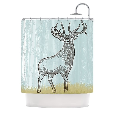 KESS InHouse Elk Scene Shower Curtain