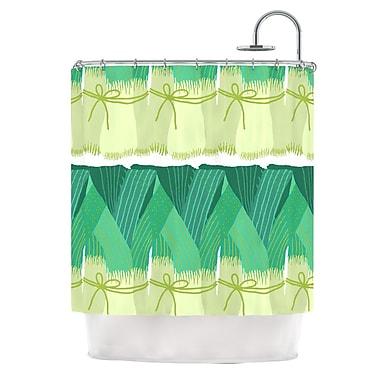 KESS InHouse Leeks Shower Curtain