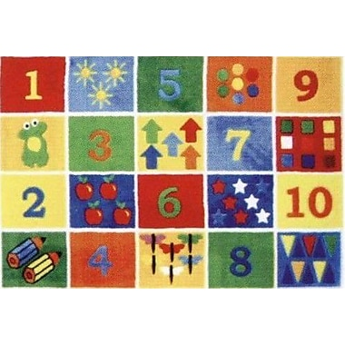 Fun Rugs Supreme Numbers Block Area Rug; 3'3'' x 4'10''