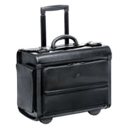 Mancini Business Leather Laptop Catalog Case; Black