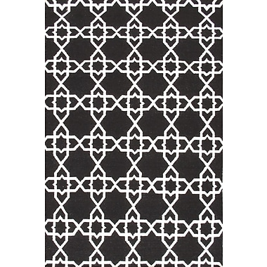 Pasargad Sahara Black/White Area Rug; 9' x 12'