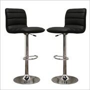 Wholesale Interiors Baxton Studio Adjustable Height Swivel Bar Stool with Cushion (Set of 2)