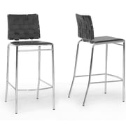 Wholesale Interiors Baxton Studio 29.875'' Bar Stool (Set of 2); Black