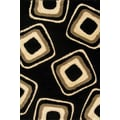 Central Oriental Miracle Black and Beige Nucleus Rug; 7'10'' x 9'10''