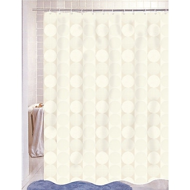 Carnation Home Fashions Jacquard Shower Curtain; Ivory