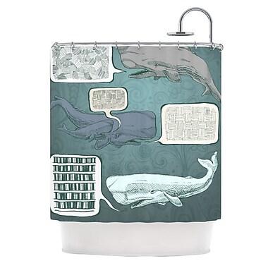 KESS InHouse Whale Talk Shower Curtain