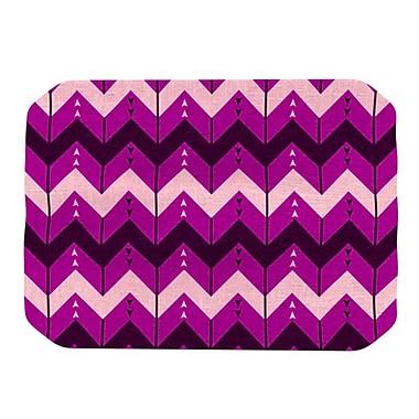KESS InHouse Chevron Dance Placemat; Purple