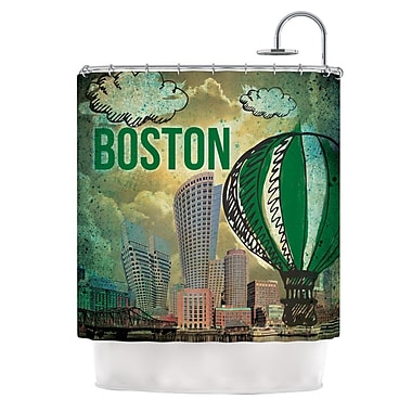 KESS InHouse Boston Shower Curtain