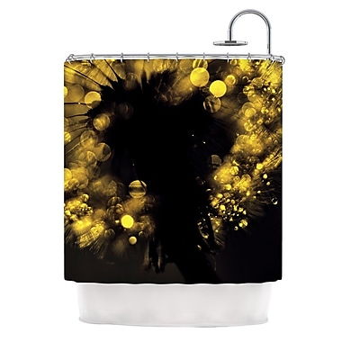 KESS InHouse Moonlight Dandelion Shower Curtain