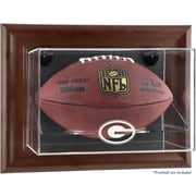 Mounted Memories NFL Wall Mounted Logo Football Case; Green Bay Packers