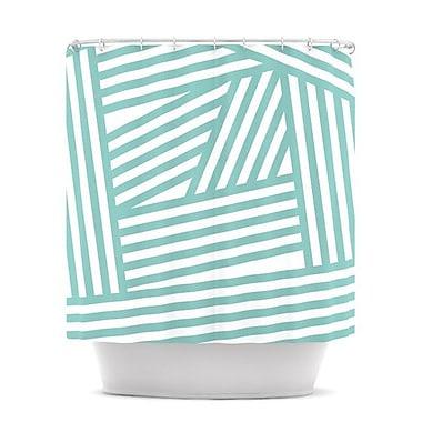 KESS InHouse Stripes Shower Curtain
