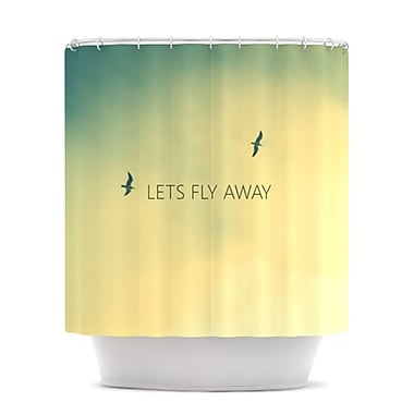 KESS InHouse Let's Fly Away Shower Curtain