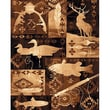 DonnieAnn Company Lodge Design Goose, Fish and Deer Novelty Rug; 7.17' H x 5.17' W x 0.25' D