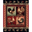 DonnieAnn Company Lodge Design Rooster Novelty Rug; 7.17' H x 5.17' W x 0.25' D