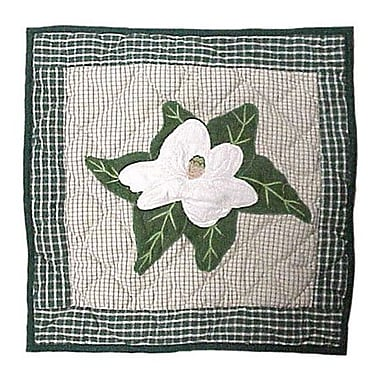 Patch Magic Magnolia Blossoms Cotton Throw Pillow