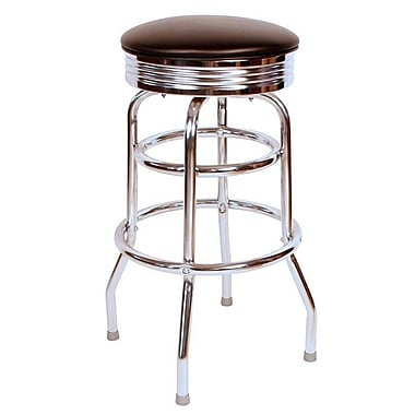 Richardson Seating Retro Home 30'' Swivel Bar Stool ; Black