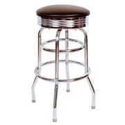 Richardson Seating Retro Home 30'' Swivel Bar Stool; Black