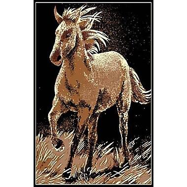 DonnieAnn Company African Adventure Running Horse Area Rug; 7' x 5'2''