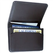 Leatherbay Flip Top Wallet; Dark Brown