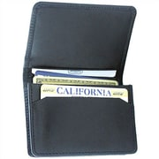 Leatherbay Flip Top Wallet; Black