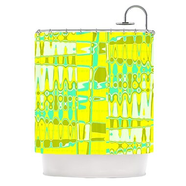 KESS InHouse Changing Gears in Sunshine Shower Curtain