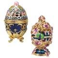 Design Toscano The Royal Garden Faberge-Style 2-Piece Enameled Egg Set
