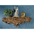 Design Toscano Brussels Floral Art Nouveau Sculptural Wall Shelf