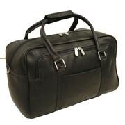 Piel Traveler 15.5'' Mini Leather Carry-On Duffel; Black
