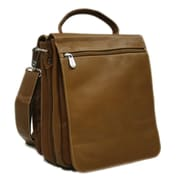 Piel Fashion Avenue Messenger Bag; Saddle